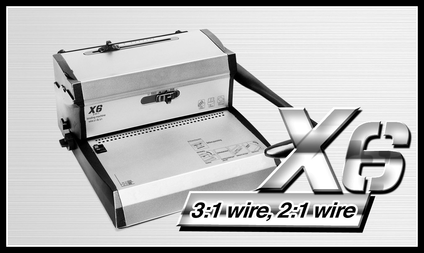 2-in-1 binding machines for double wire